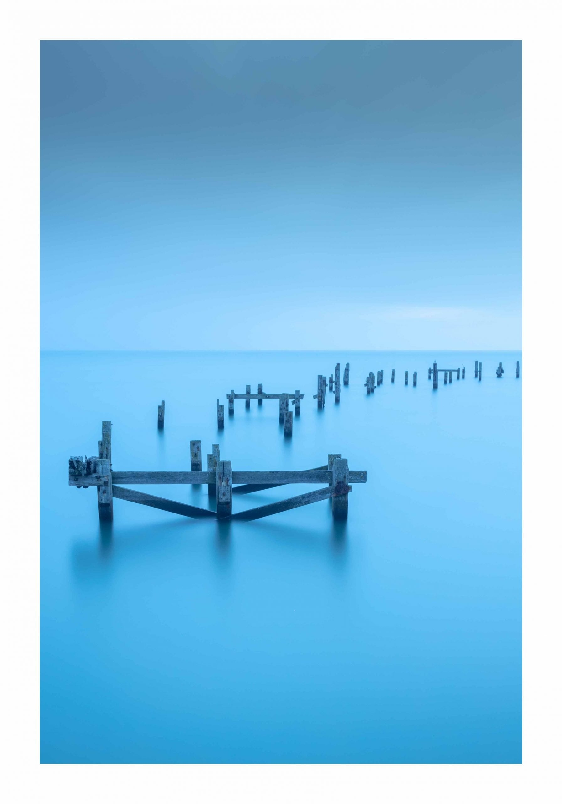 swanage old pier blue hour